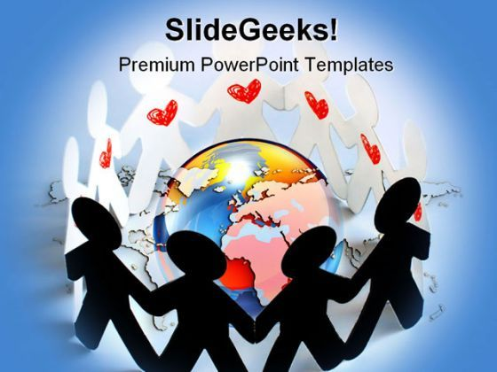 United People Globe PowerPoint Backgrounds And Templates 1210  Presentation Themes and Graphics Slide01