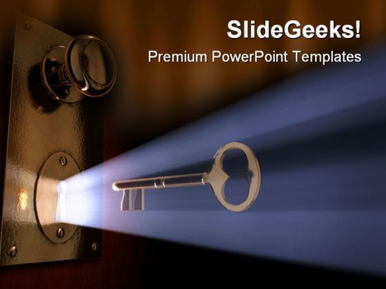 Unlocked Idea Security PowerPoint Templates And PowerPoint Backgrounds 0211  Presentation Themes and Graphics Slide01