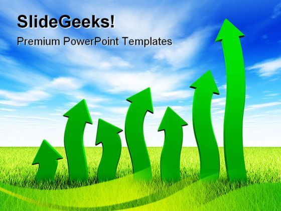 Up Arrows Business PowerPoint Backgrounds And Templates 1210  Presentation Themes and Graphics Slide01
