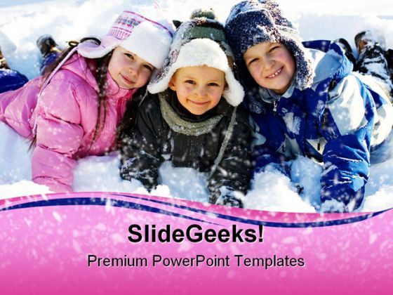 Winter Children PowerPoint Background And Template 1210  Presentation Themes and Graphics Slide01