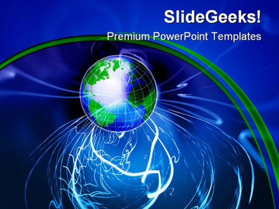 Wireless Technology Globe PowerPoint Background And Template 1210  Presentation Themes and Graphics Slide01