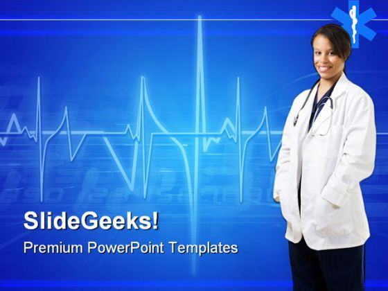 Woman Doctor Hospitality PowerPoint Templates And PowerPoint Backgrounds 0911  Presentation Themes and Graphics Slide01
