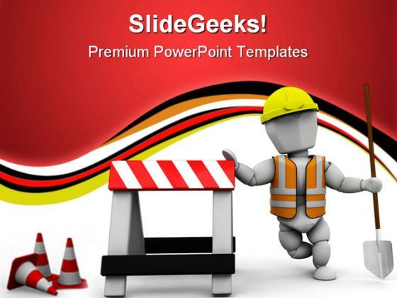 Worker Construction PowerPoint Templates And PowerPoint Backgrounds 0711  Presentation Themes and Graphics Slide01
