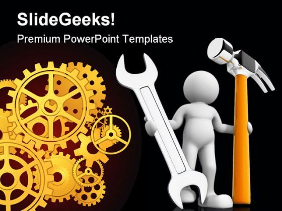 Worker Industrial PowerPoint Templates And PowerPoint Backgrounds 0511  Presentation Themes and Graphics Slide01