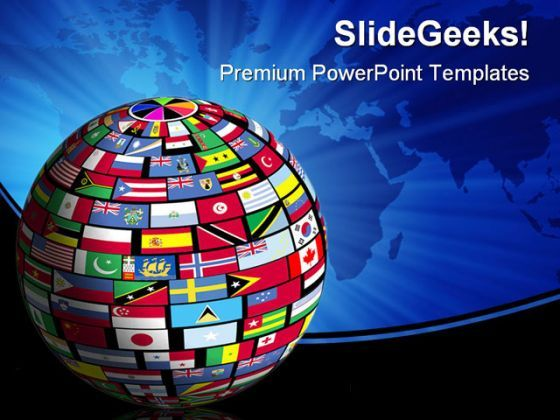 World Flags Globe Earth PowerPoint Background And Template 1210  Presentation Themes and Graphics Slide01