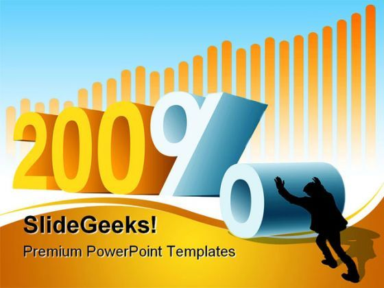 Year Or Profit Business PowerPoint Background And Template 1210  Presentation Themes and Graphics Slide01