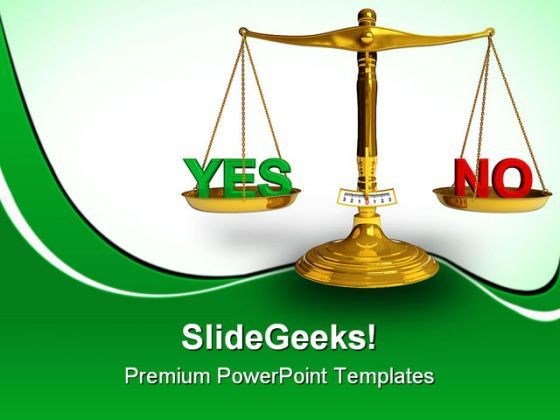 Yes And No Business PowerPoint Templates And PowerPoint Backgrounds 0311  Presentation Themes and Graphics Slide01