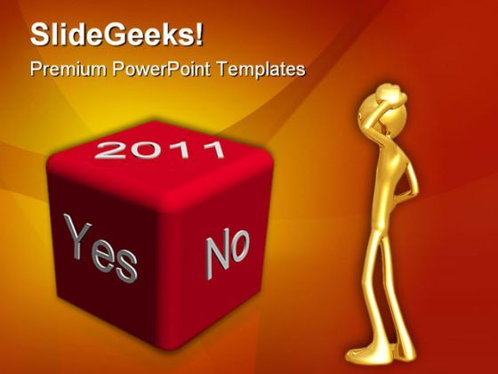Yes No Year2011 Business PowerPoint Backgrounds And Templates 1210  Presentation Themes and Graphics Slide01