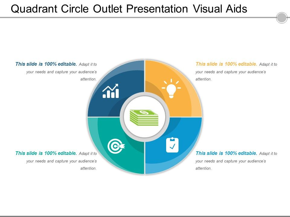 Quadrant circle outlet presentation visual aids for Slide design outlet