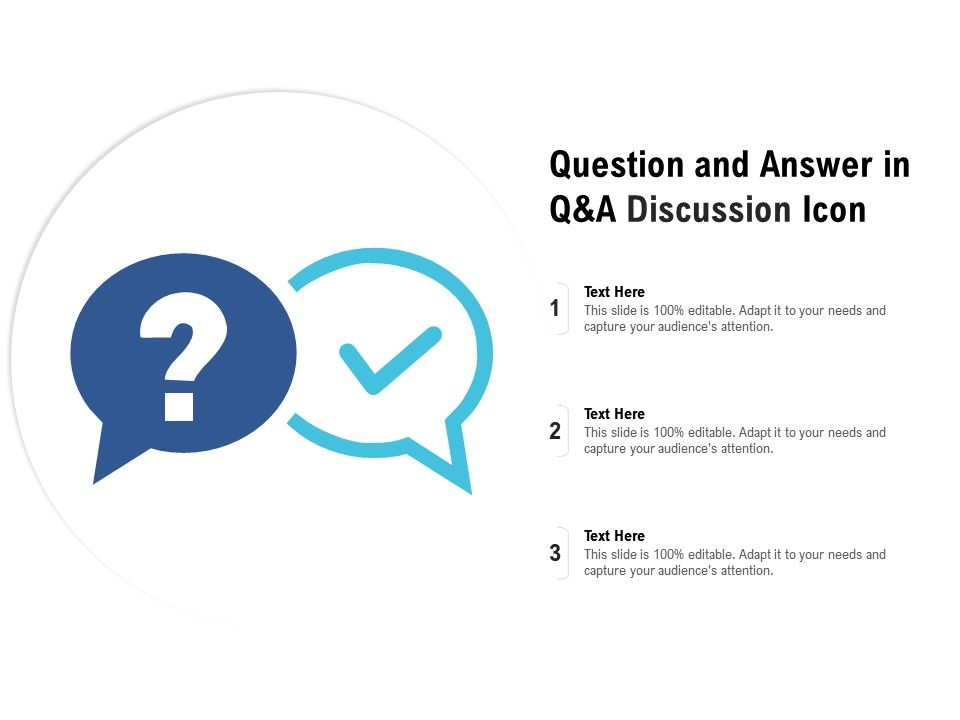 Question And Answer In Q And A Discussion Icon ...