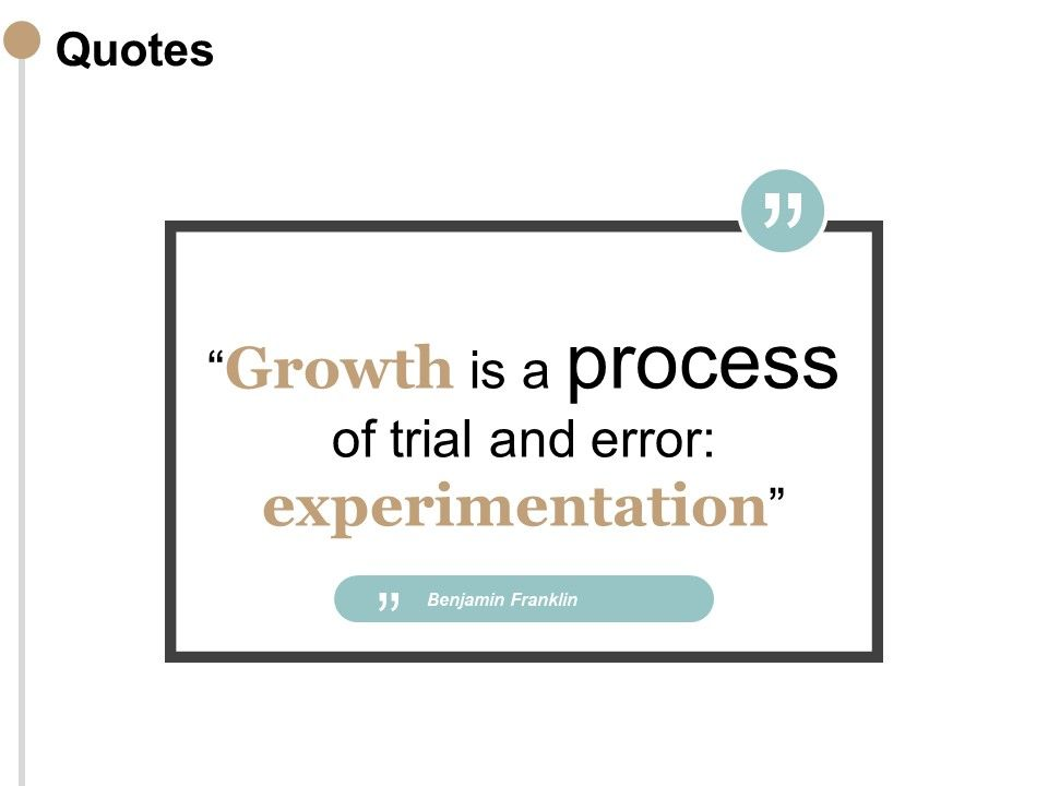 Quotes Process Growth F168 Ppt Powerpoint Presentation