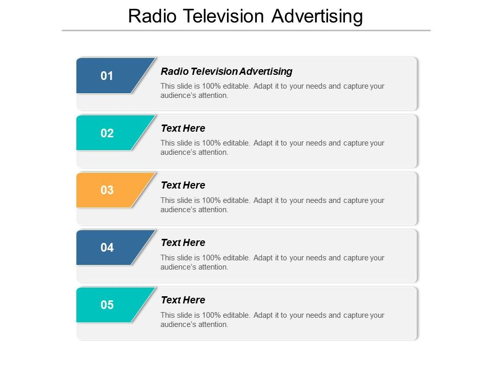 Radio Television Advertising Ppt Powerpoint Presentation