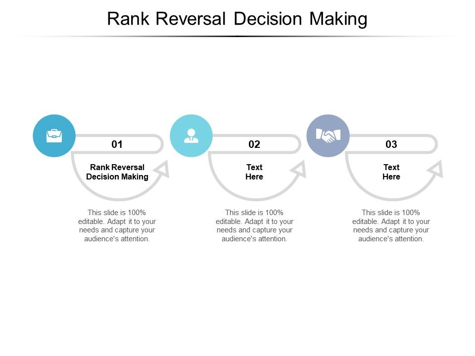 Rank Reversal Decision Making Ppt Powerpoint Presentation Styles Example Introduction Cpb