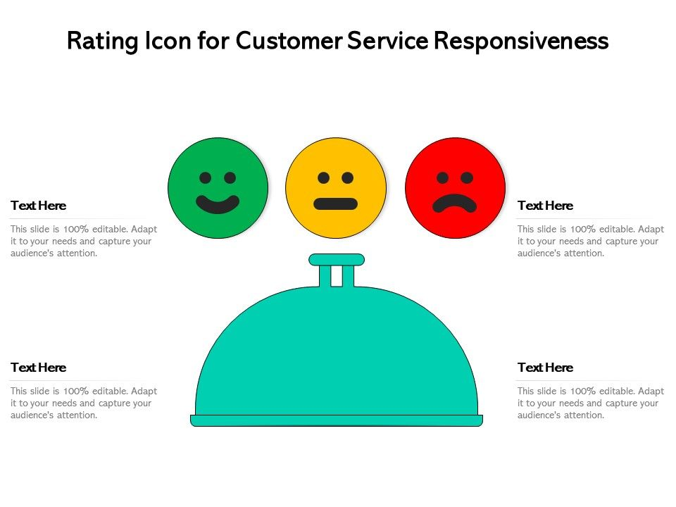 Rating Icon For Customer Service Responsiveness