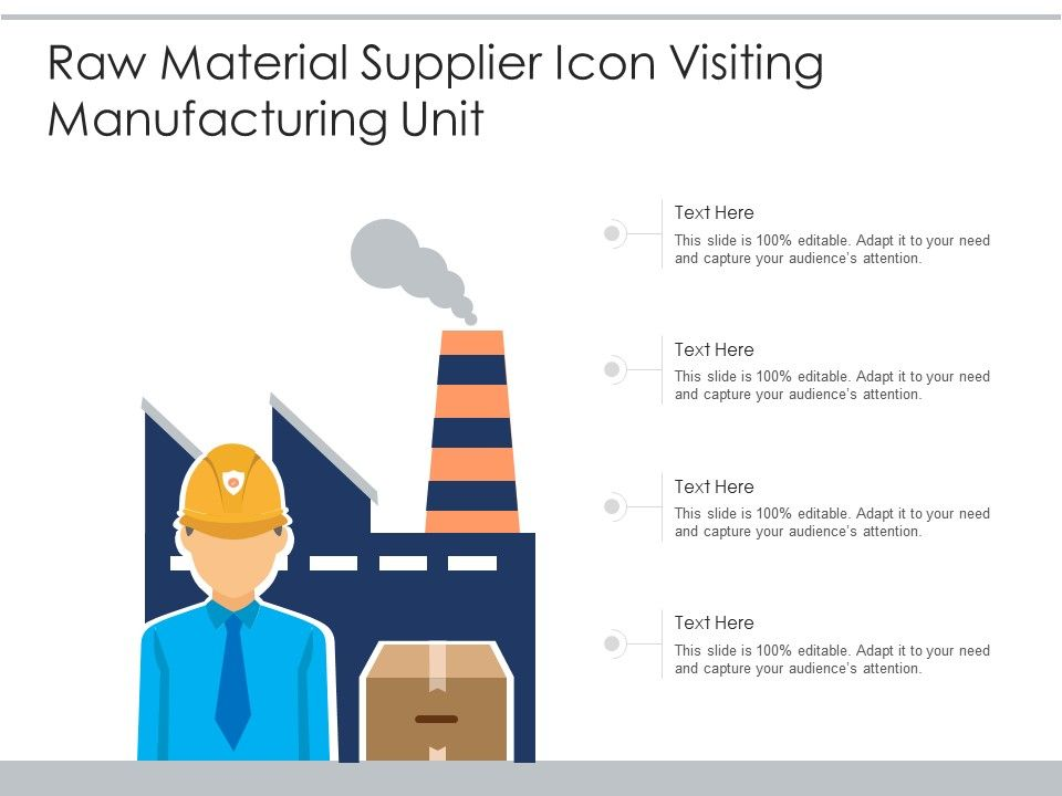 Raw Material Supplier Icon Visiting Manufacturing Unit