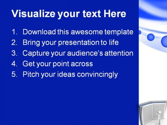 Reading Book Education PowerPoint Template 1110 | PowerPoint Slide ...