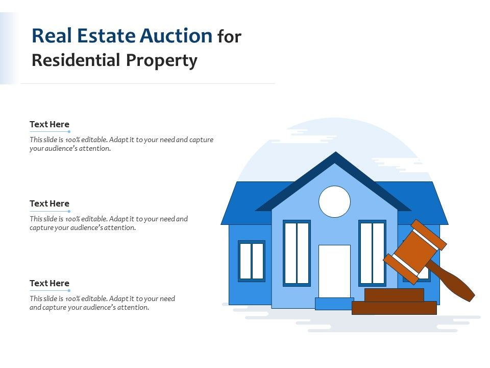 Real Estate Auction For Residential Property