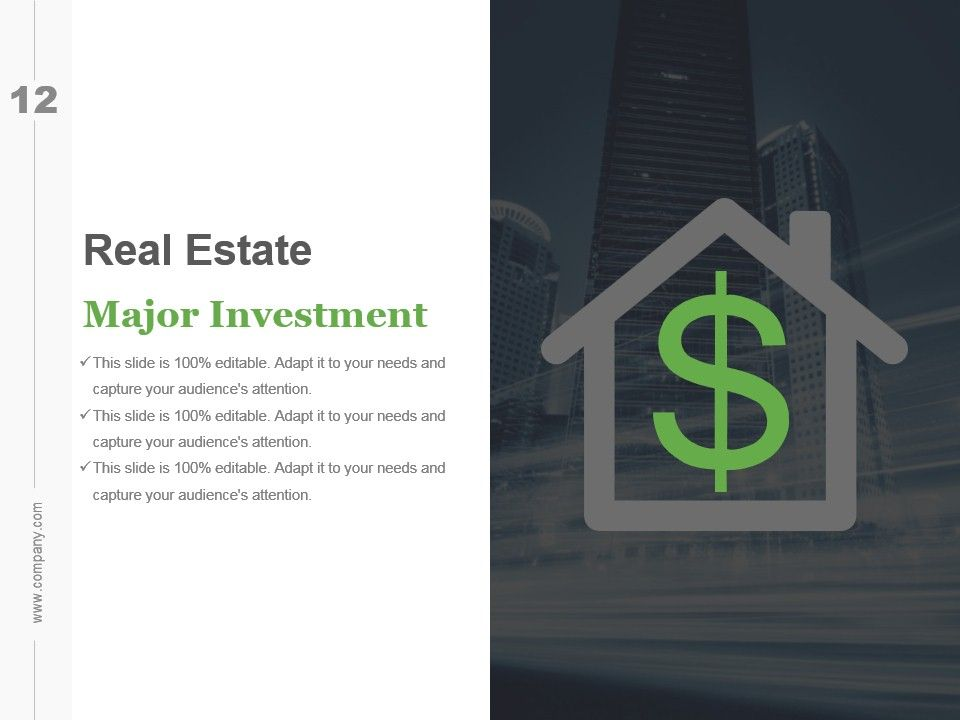 Real Estate Investment Business Plan Ppt Real Estate Investment