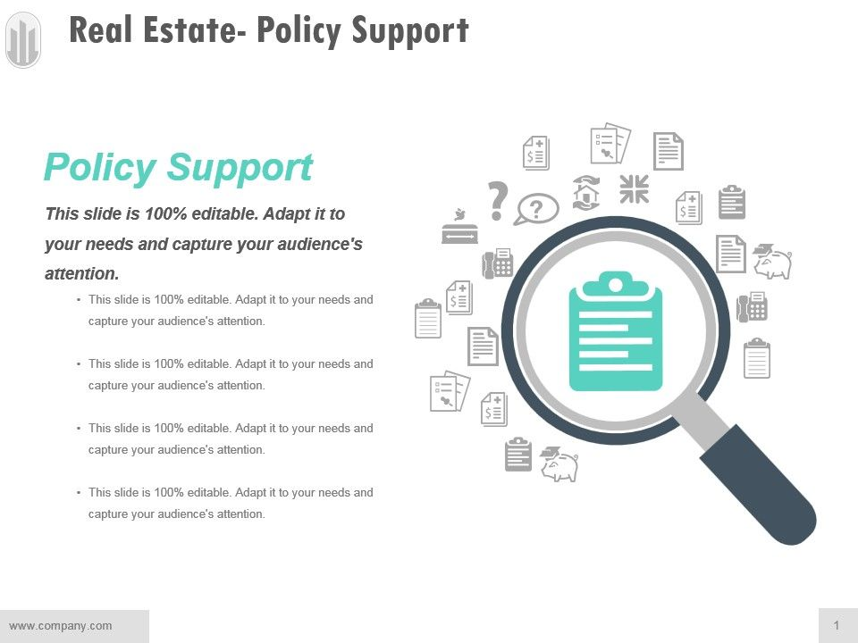real_estate_policy_support_ppt_examples_Slide01