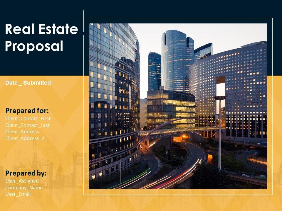 Real Estate Proposal Powerpoint Presentation Slides