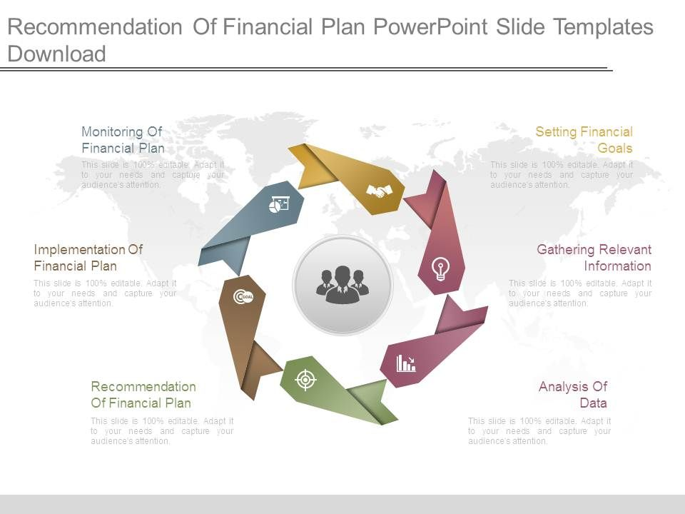recommendation of financial plan powerpoint slide