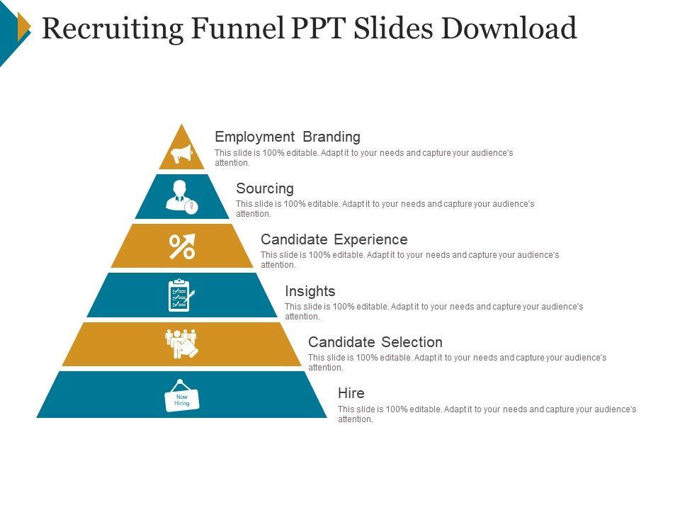 Recruiting Funnel Ppt Slides Download | Template Presentation