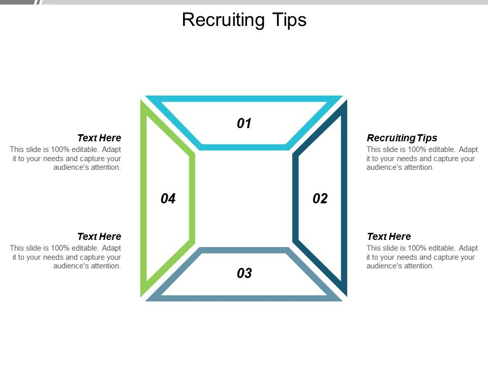 Recruiting Tips Ppt Powerpoint Presentation Slides Show Cpb
