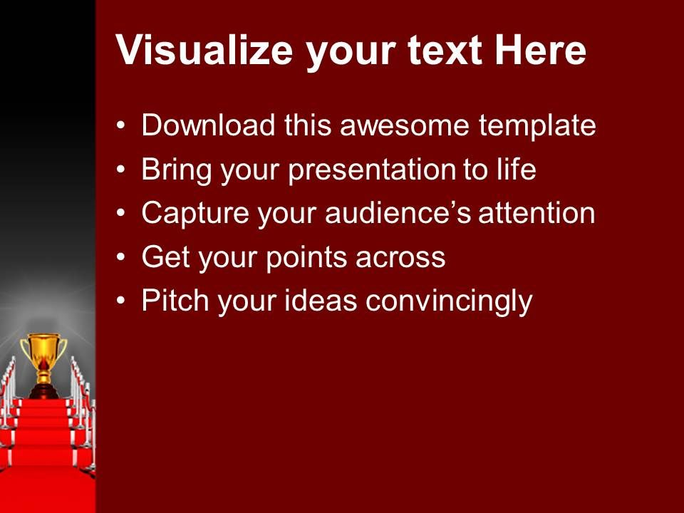 Red Carpet Award Ceremony Powerpoint Templates Ppt
