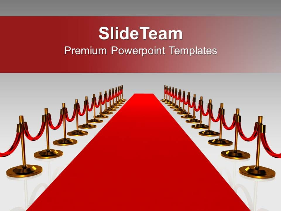 red carpet for award winners success powerpoint templates ppt, Modern powerpoint