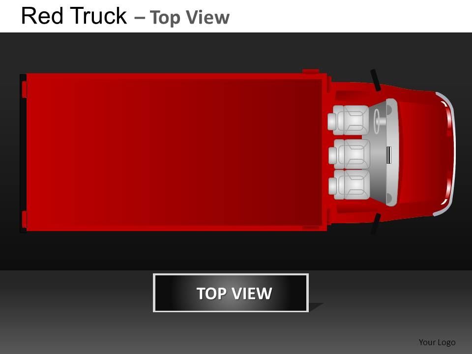 red truck top view powerpoint presentation slides db | templates, Presentation templates
