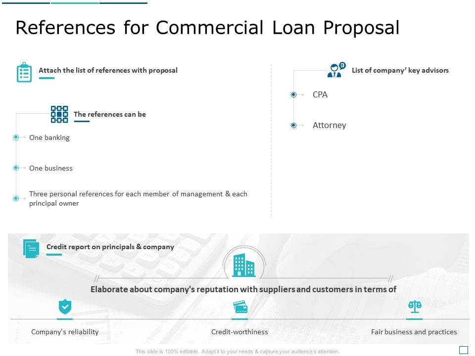 References For Commercial Loan Proposal Ppt Powerpoint Presentation Infographic Template