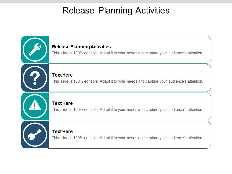 Release Planning Activities Ppt Powerpoint Presentation Slides Graphics Pictures Cpb
