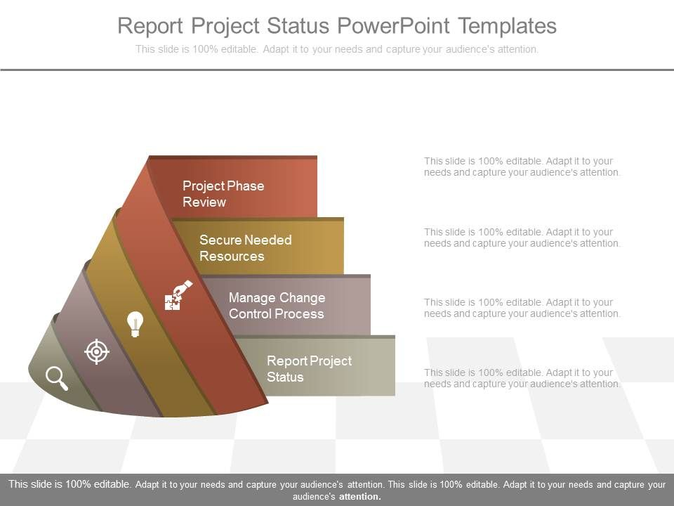 report project status powerpoint templates powerpoint presentation