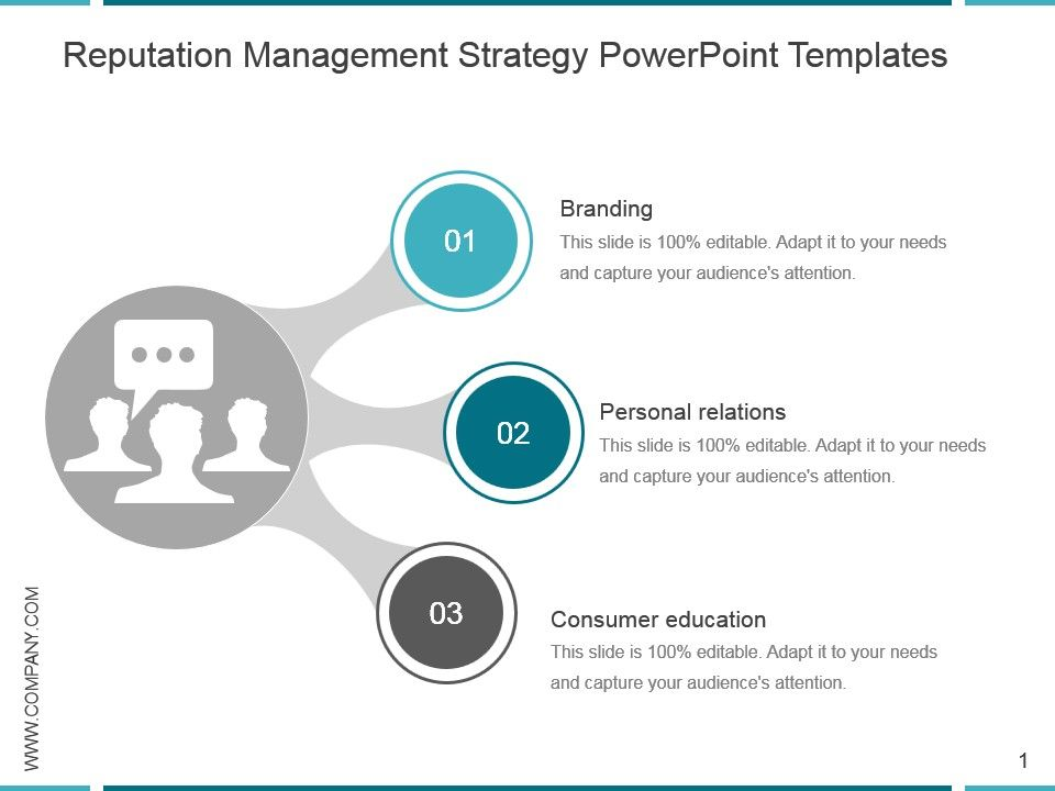 reputation management strategy powerpoint templates powerpoint