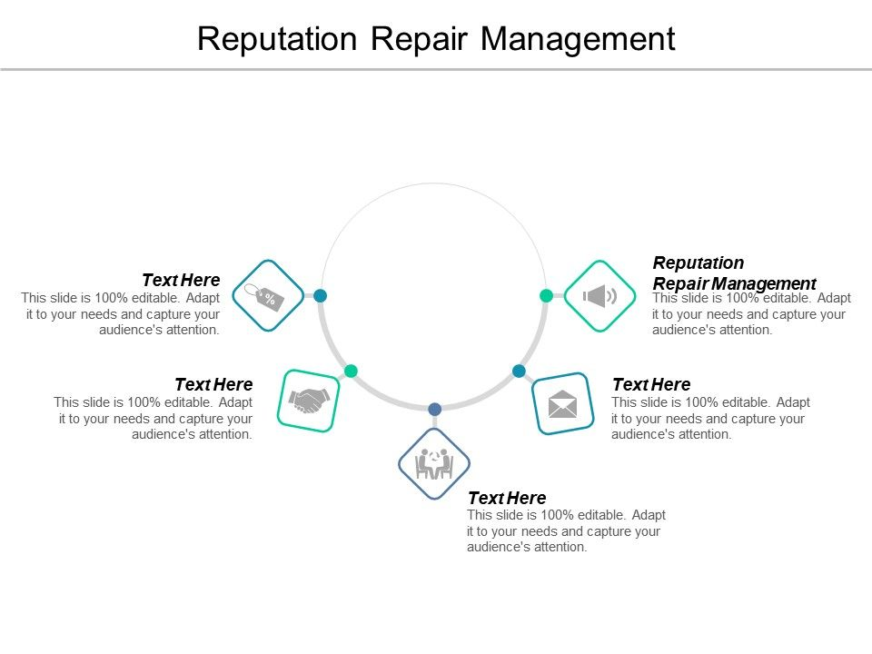 Reputation Repair Management Ppt Powerpoint Presentation Icon