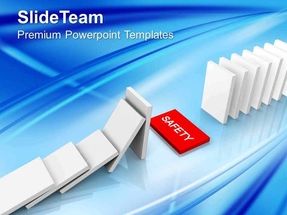 rescue_dominoes_safety_business_powerpoint_templates_ppt_themes_and_graphics_Slide01