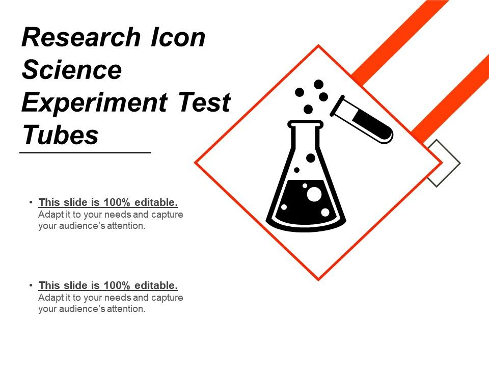 research icon science experiment test tubes powerpoint