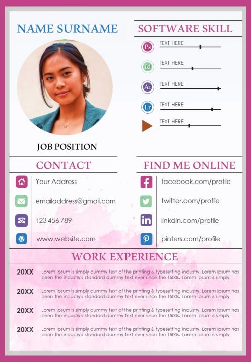 Resume Design Powerpoint Template For Business Professionals