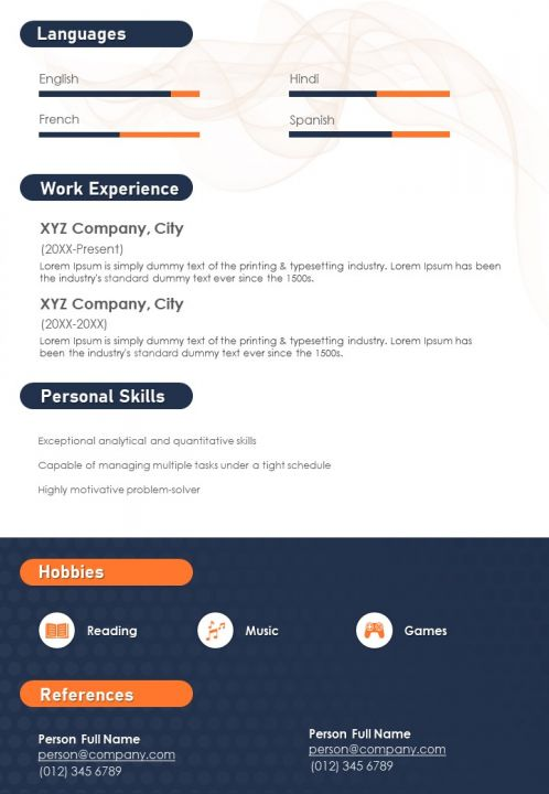 Resume Sample With Professional Summary And Educational Background Powerpoint Slides Diagrams Themes For Ppt Presentations Graphic Ideas