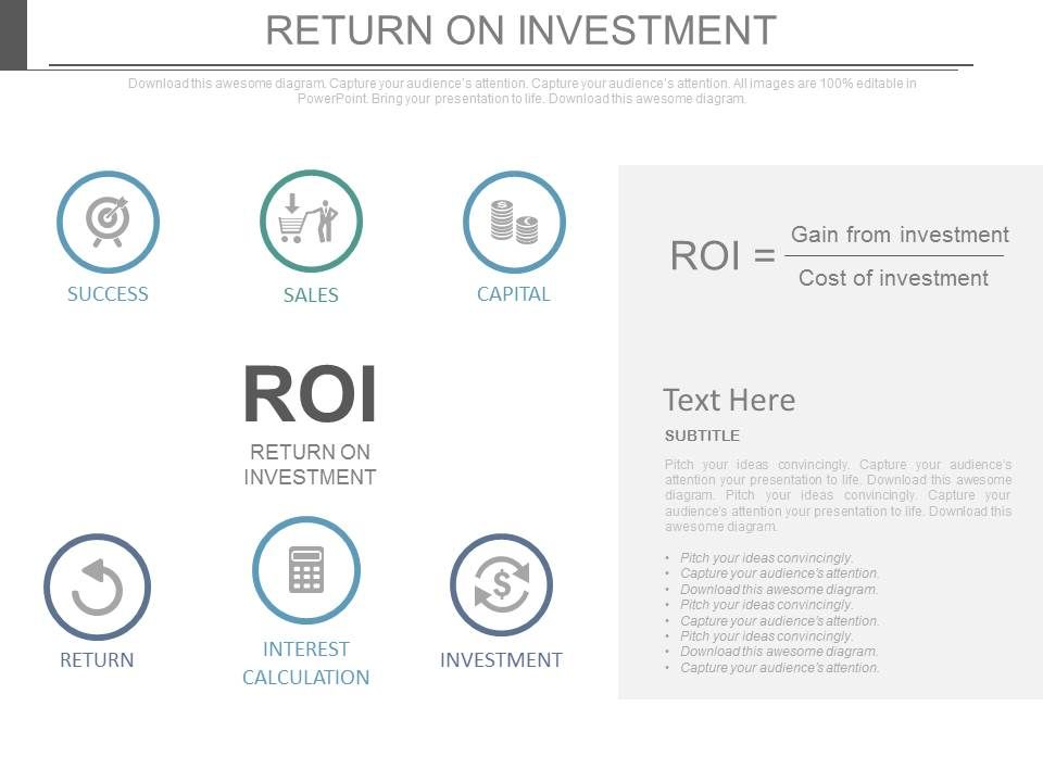 return on investment business ppt slides powerpoint templates