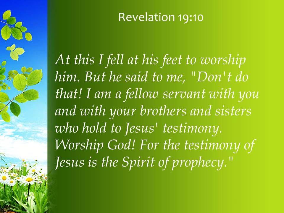 Revelation 19 10 Testimony of Jesus is the Spirit PowerPoint Church