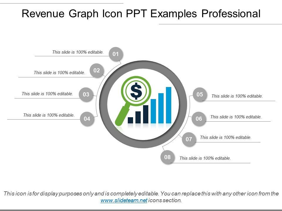 revenue graph icon ppt examples professional powerpoint