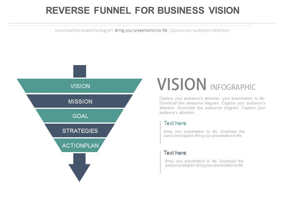 Reverse Funnel For Business Vision Powerpoint Slides Presentation - Awesome funnel image powerpoint concept
