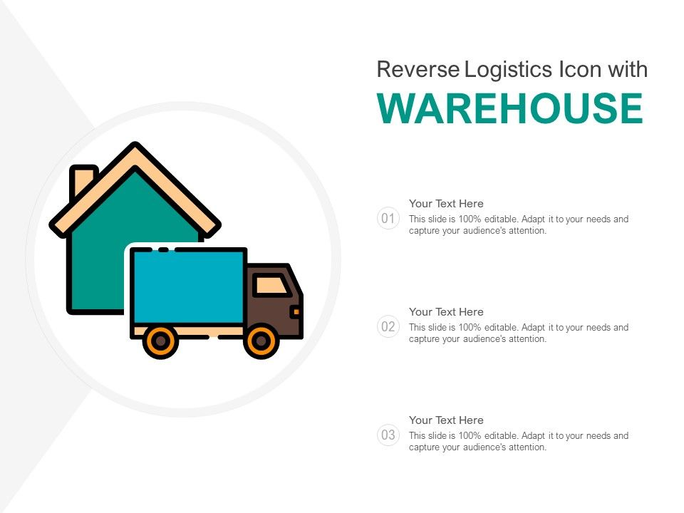 Reverse Logistics Icon With Warehouse