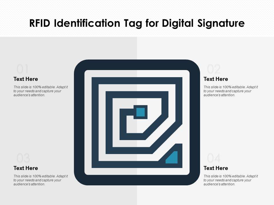 Rfid Identification Tag For Digital Signature Presentation Graphics Presentation Powerpoint Example Slide Templates