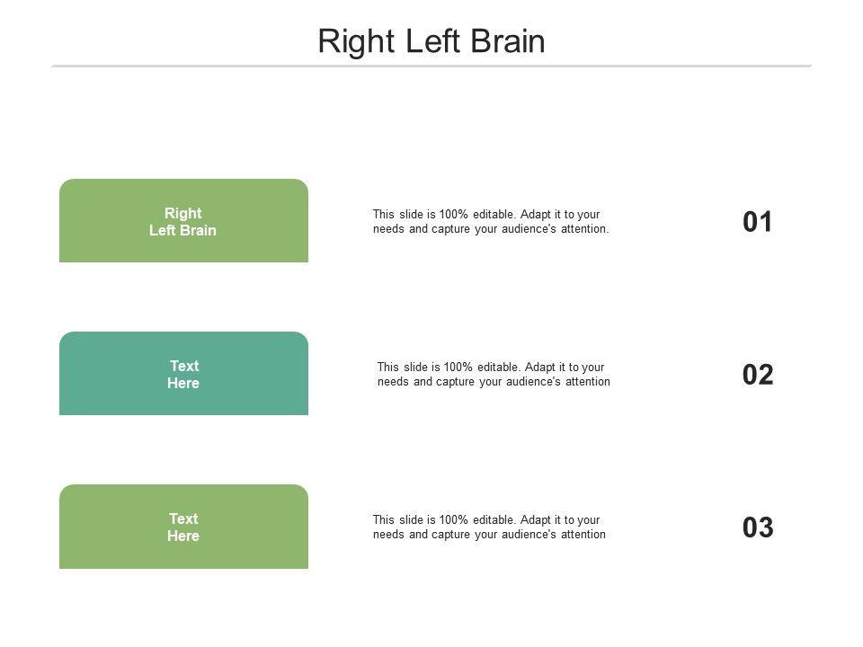 Right Left Brain Ppt Powerpoint Presentation Outline Smartart Cpb