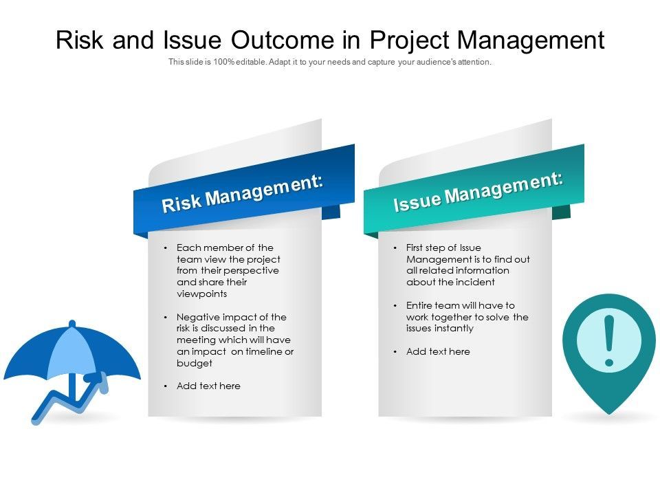 Risk And Issue Outcome In Project Management