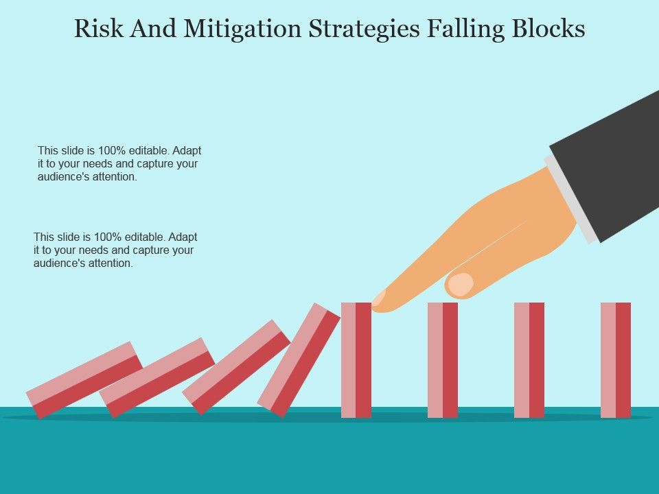 risk and mitigation strategies falling blocks sample of ppt, Presentation templates