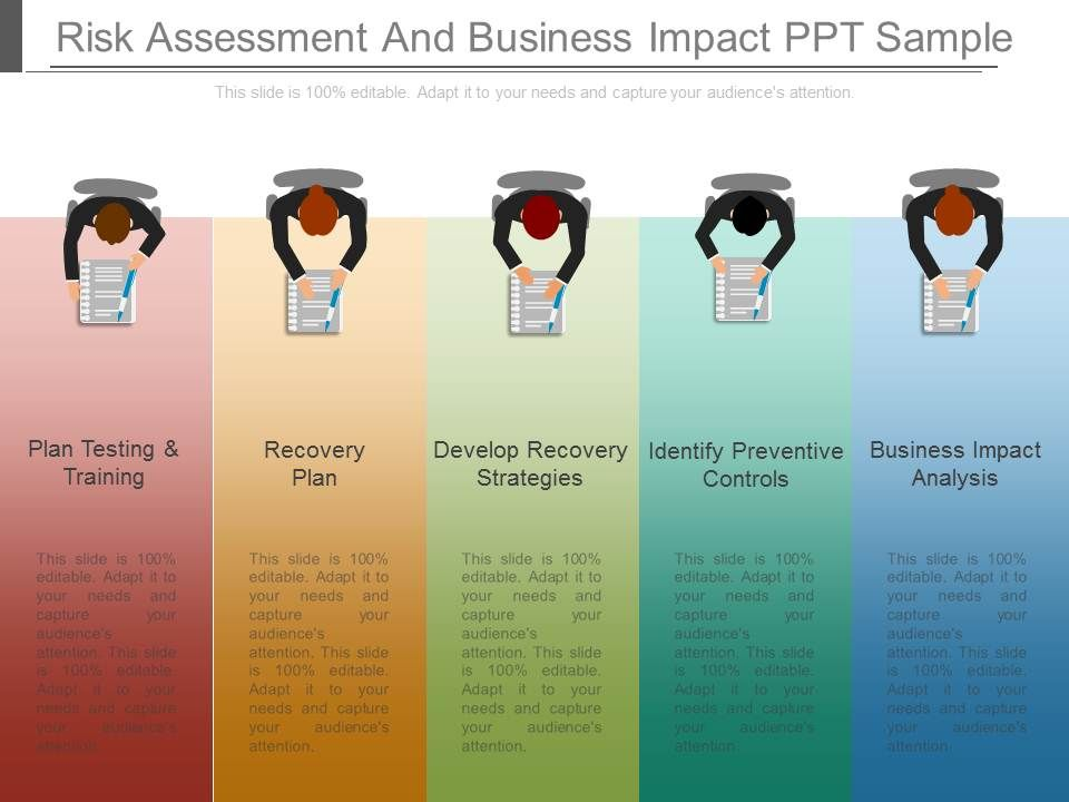 Risk Assessment And Business Impact Ppt Sample | Powerpoint