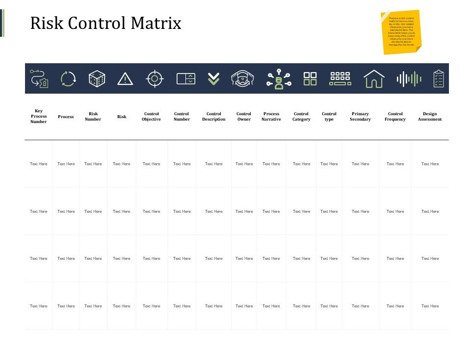 Risk Control Matrix Key Process Ppt Powerpoint Presentation Styles Graphics Design